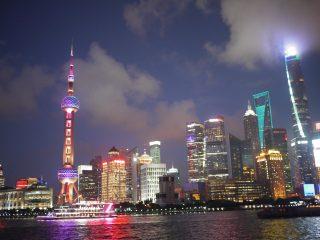 上海 外灘からみる浦東地区の風景